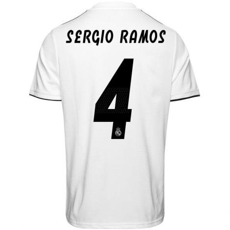 Домашняя футболка Реал Мадрид 2018-2019 Серхио Рамос номер 4