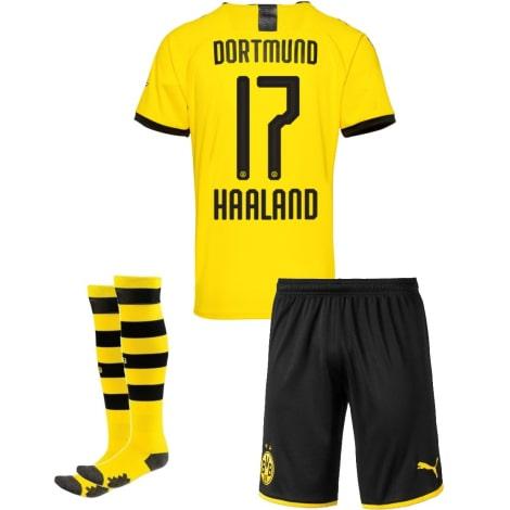 Детская домашняя форма Боруссии Холанн 2019-2020 футболка шорты и гетры