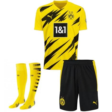 Комплект детской домашней формы Боруссии 2020-2021 футболка шорыт и гетры