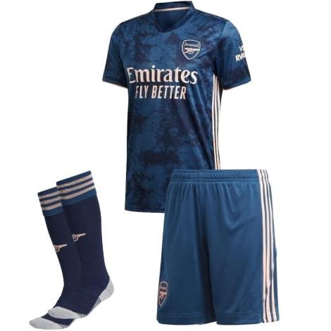 Комплект детской третьей формы Арсенала 2021-2020 футболка шорыт и гетры