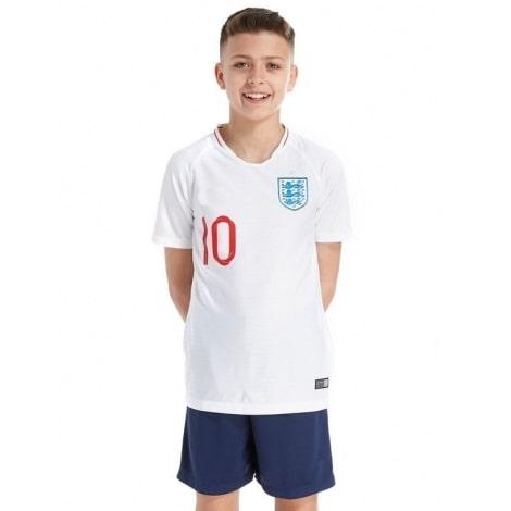 Детская домашняя форма Англии на ЧМ 2018 Деле Алли номер 10 спереди