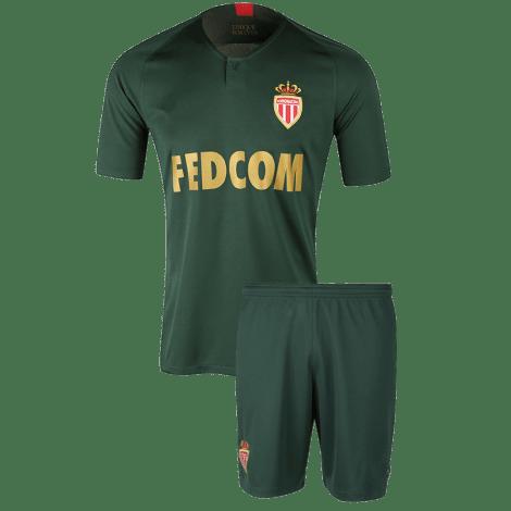 Детская гостевая футбольная форма Монако 2018-2019