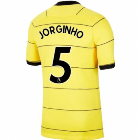 Гостевая игровая футболка Челси Жоржиньо 2021-2022