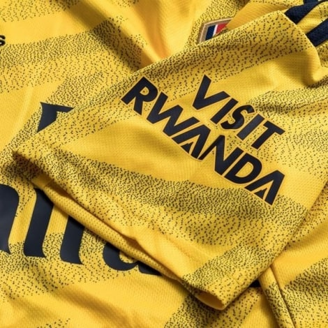 Женская гостевая футболка Арсенала 2019-2020 рукав