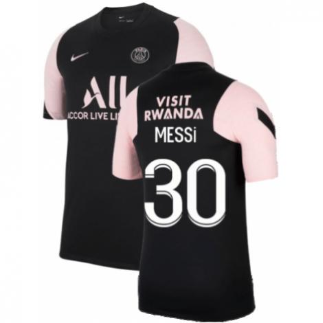 Черно-розовая тренировочная футболка MESSI ПСЖ 2021-2022