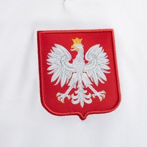 Домашний комплект детской формы Польши на ЕВРО 2020-21 футболка герб сборной Левандовски