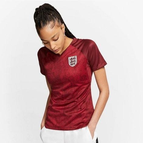 Женская гостевая футболка Англии на Чемпионат Европы 2020