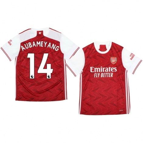 Домашняя футболка Арсенала Пьер-Эмерик Обамеянг 2020-2021