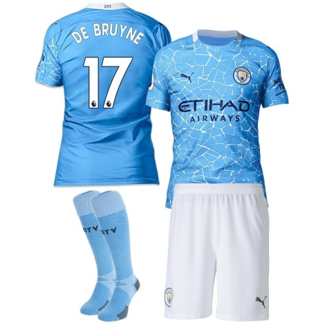 Детская домашняя футбольная форма Де Брёйне 20-21