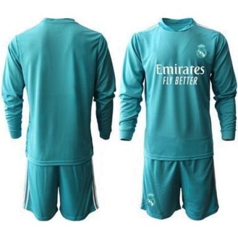 Голубая форма Реал Мадрид с длинными рукавами 2020-2021