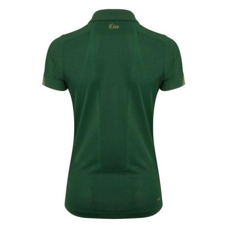 Женская домашняя футболка сборной Ирландии на ЕВРО 2020-21 сзади
