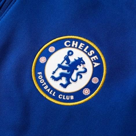 Взрослая синяя тренировочная олимпийка Челси 2018-2019 герб клуба
