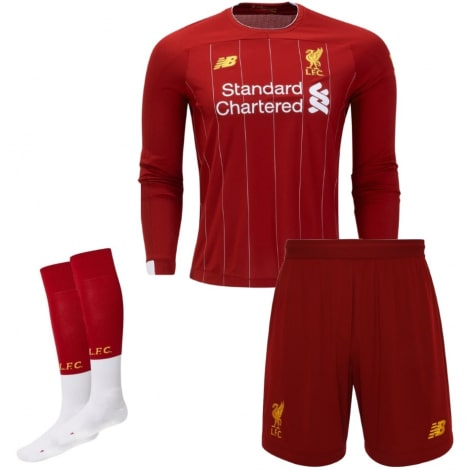 Взрослая домашняя форма Ливерпуля 19-20 c длинными рукавами футболка шорты и гетры