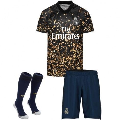 Детская четвертая футбольная форма Реал Мадрид 2019-2020 футболка шорты и гетры