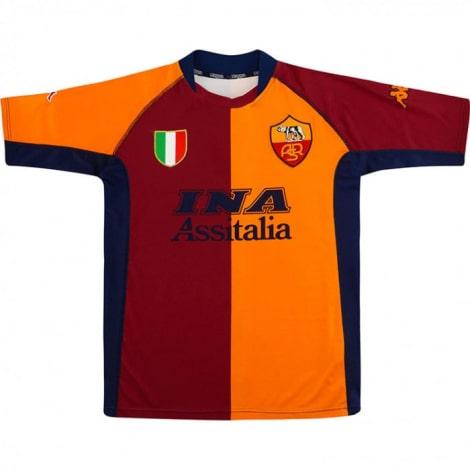 Домашняя ретро футболка Ромы 2001-2002