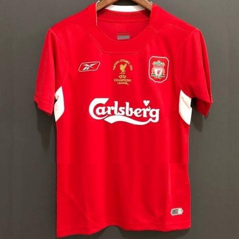Домашняя ретро футболка Ливерпуля 2004-2005