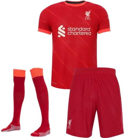 Комплект взрослой домашней формы Ливерпуля 2021-2022 футболка шорты и гетры