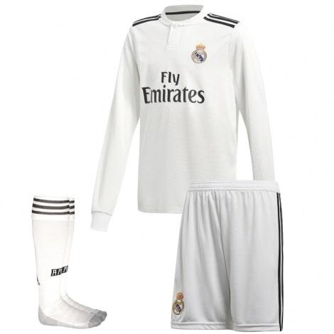 Взрослая домашняя форма Реала 18-19 c длинными рукавами