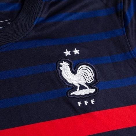 Детская домашняя форма Франции на ЕВРО 2020-21 герб сборной