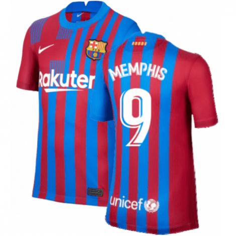 Домашняя футболка Барселоны 2021-2022 Мемфис Депай