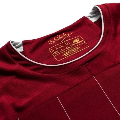 Детская домашняя футбольная форма Салах 2019-2020 футболка воротник