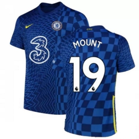 Домашняя игровая футболка Челси 2021-2022 Мейсон Маунт