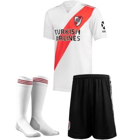 Комплект детской домашней формы Ривер Плейт 2020-2021 футболка шорты и гетры