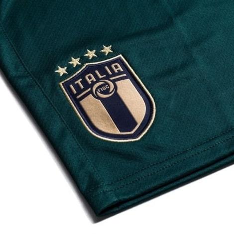 Третий комплект детской формы Италии 2019-2020 шорты герб сборной