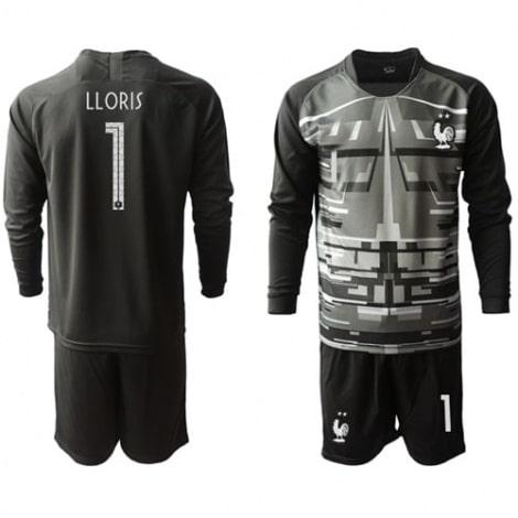 Черная форма сборной Франции LLORIS с длинными рукавами