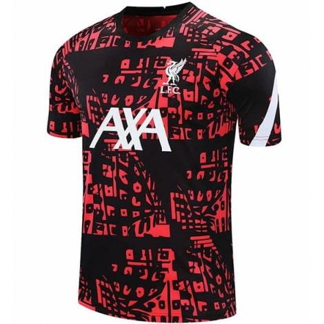 Красно-черная пре матчевая футболка Ливерпуля 20-21