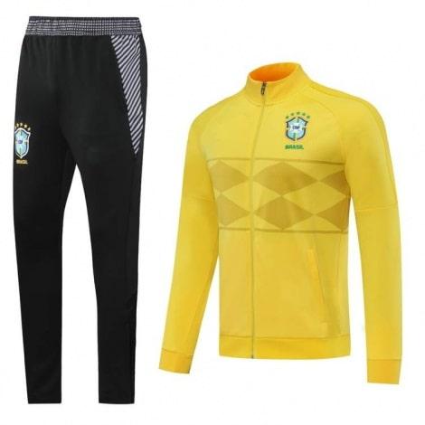 Черно желтый костюм сборной Бразилии по футболу 2020-2021