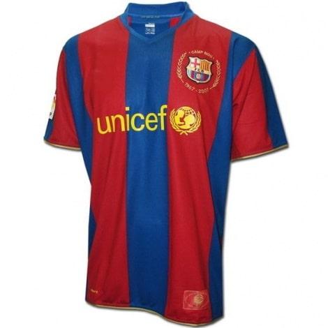 Домашняя ретро футболка Барселоны 2007-2008