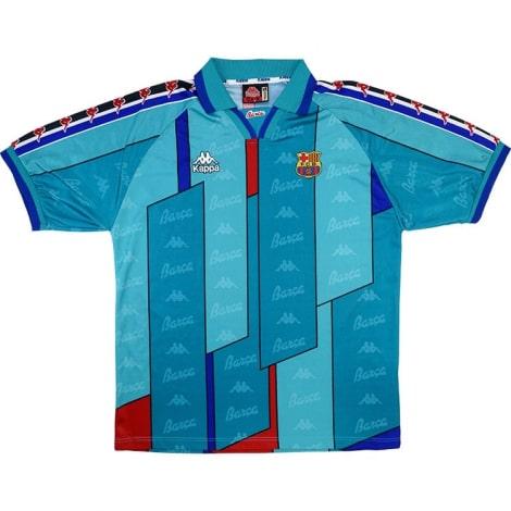 Гостевая ретро футболка Барселоны 1996-1997