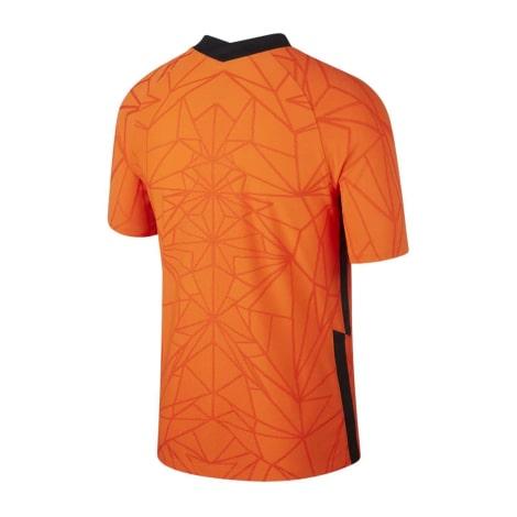 Домашняя футболка сборной Голландии на Чемпионат Европы 2020 сзади