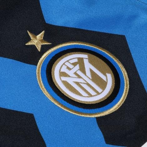 Домашняя игровая футболка Интера Ромелу Лукаку 2020-2021 герб клуба