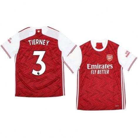 Домашняя футболка Арсенала Киран Тирни 2020-2021