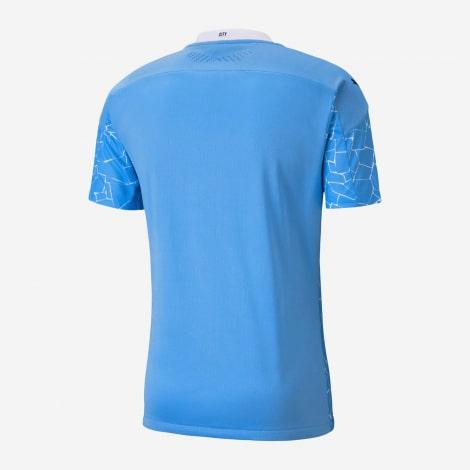 Детская домашняя футбольная форма Де Брёйне 20-21 футболка сзади