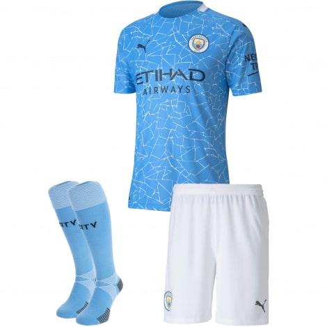 Детская домашняя форма Манчестер Сити 2020-2021 футболка шорыт и гетры