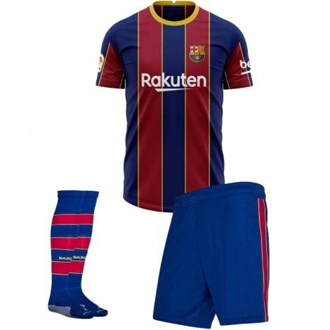 Комплект взрослой домашней формы Барселоны 2020-2021 футболка шорты и гетры