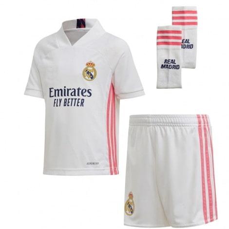 Детский комплект домашней формы Реал Мадрид 2020-2021 футболка шорты и гетры