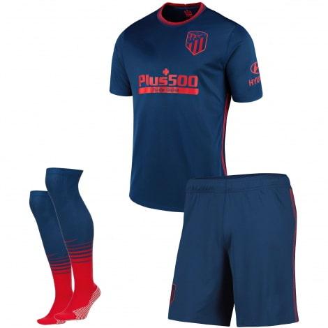Детский комплект гостевой формы Атлетико 2020-2021 футболка шорты и гетры