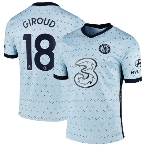 Гостевая игровая футболка Челси 2020-2021 Оливье Жиру