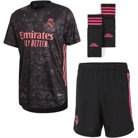 Взрослый комплект третьей формы Реал Мадрид 2020-2021 футболка шорты и гетры