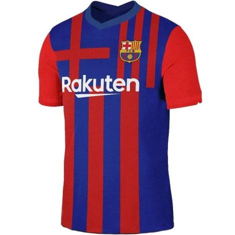Комплект взрослой домашней формы Барселоны 2021-2022 футболка