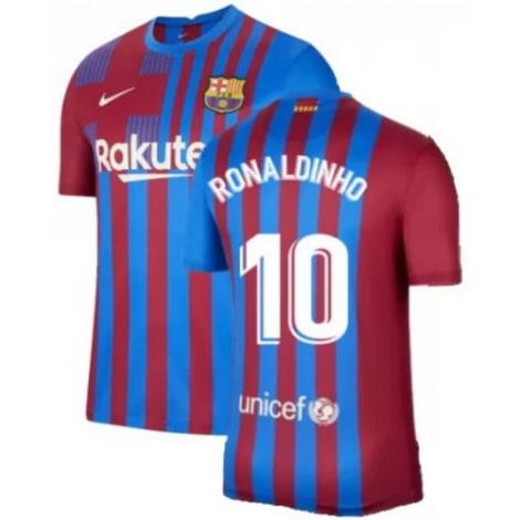 Детская домашняя футбольная форма Роналдиньо 2021-2022 футболка