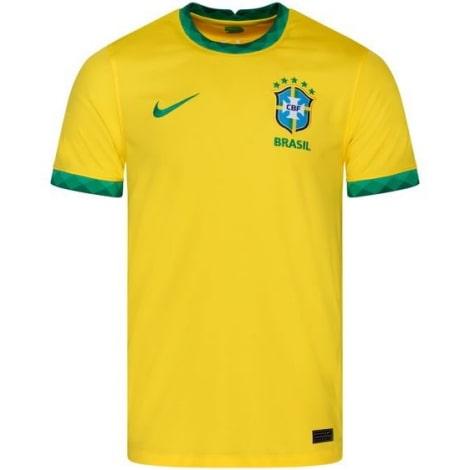 Детская домашняя форма Бразилии 2020-2021 футболка