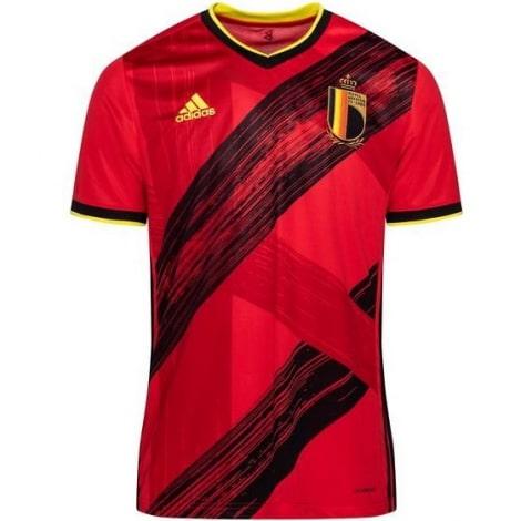 Взрослая домашняя форма сборной Бельгии на ЕВРО 2020-21 футболка