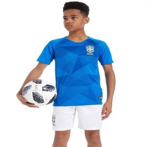 Комплект детской футбольной формы Бразилии на ЧМ 2018 футболка шорты