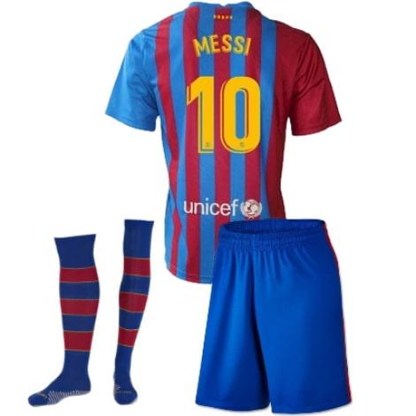Детская домашняя футбольная форма Месси 2021-2022