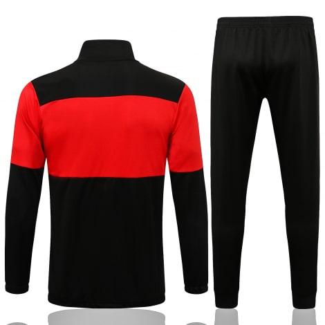 Красно-черный спортивный костюм Милан 2021-2022 сзади